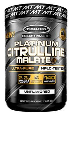 L Citrulline Malate   MuscleTech L-Citrulline Powder   Pre Workout Nitric Oxide Booster   Increase Blood Flow & Vasodilation   Workout Supplement for Men & Women   Unflavored (140 Servings)