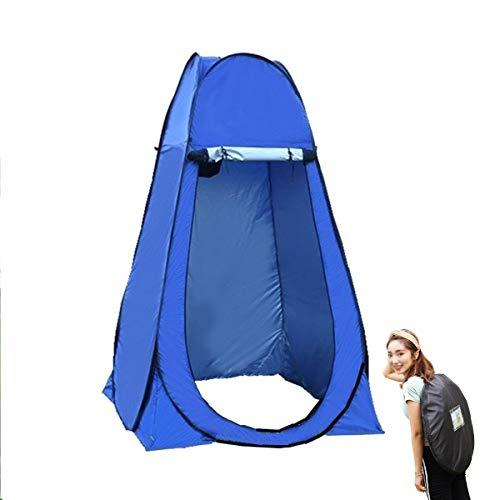 HT&PJ Tienda de campaña desplegable para camping, cabina de ducha, portátil, para pescador, adecuada para camping, senderismo (azul, A)