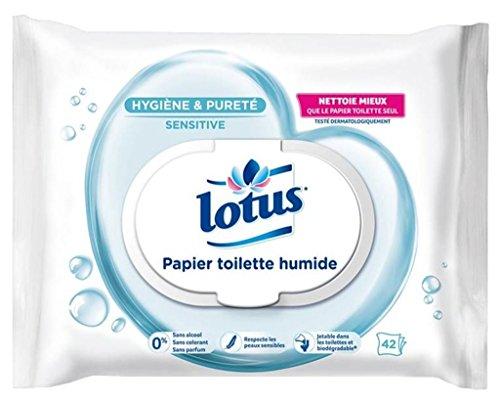 Lotus Toilettenpapier Pure–PH feuchten–42Blatt