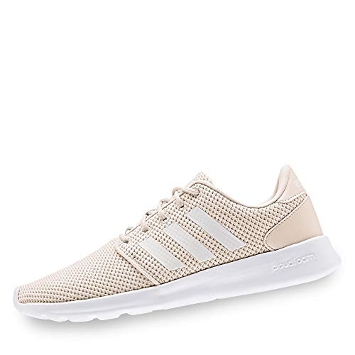 adidas EE8085 QT Racer Damen Sneaker aus Mesh Textilausstattung Cloudfoam Sohle, Groesse 39 1/3, Natur