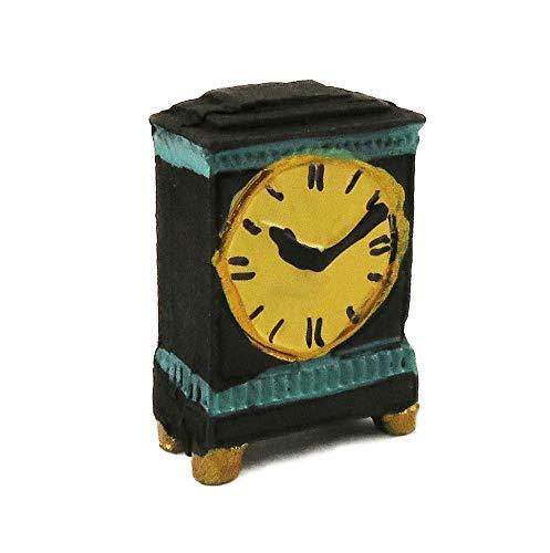 Melody Jane Puppenhaus Georgischer Schwarz & Grün Hülle Uhr Miniatur Deko Zubehör