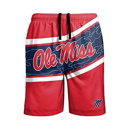 FOCO NCAA Ole Miss Rebels Mens Big Wordmark Swim Suit TrunksBig Wordmark Swim Suit Trunks, Team Color, Large