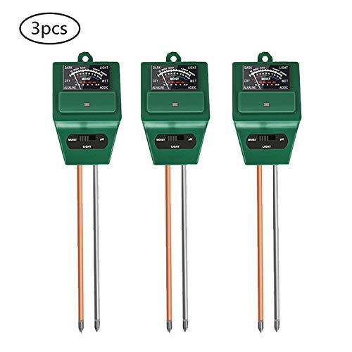 Amazing Deal Eamplest 3pcs Soil Tester Sensor, 3 in 1 PH/Moisture/Light Soil Tester Sensor, for Flow...
