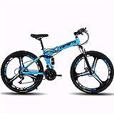 Bicicleta de montaña Mountainbike Bicicleta Bicicletas de montaña, 26' plegable suspensión delantera de la bici, con doble freno de disco y doble suspensión, Carbon Steel Frame, 21 de velocidad, veloc
