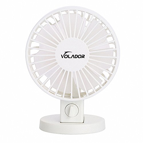 USB Table Fan, VOLADOR Portable Personal Mini Desk Fan, PC/Laptop Cooling Fan for Home, Office, Travel (Touch Control, Dual Motor Driver, Double Blades, Whisper Quite) ¡