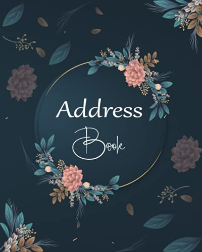 Address Book: Large Print Address Book with Tabs, More than 300 Entry Spaces! Pretty Floral design