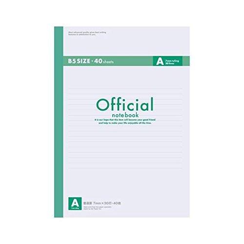 (業務用セット) アピカ オフィシャルノート 無線綴じノート A罫(7mm) 6A4F 1冊入 〔×10セット〕
