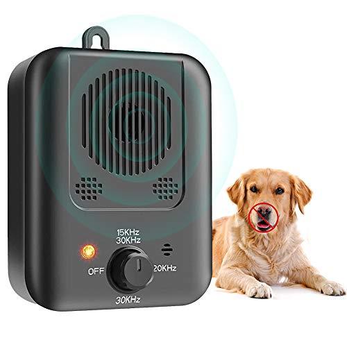 Ultrasuoni per Cani, Ultrasuoni Dispositivo di Controllo Anti-Abbaiamento con Livelli di Ultrasuoni Regolabili, Antiabbaio Sicuro e per Addestramento Umano per Cani di Piccola e Grande Taglia