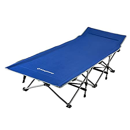 KingCamp Strong Stable Folding Camping Bed Cot with Storage Bag.
