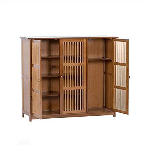 WJJ Zapatos Organizador Zapato gabinete de bambú Mueble Multifuncional Sencillo de múltiples Capas gabinete del Zapato salón Porche (Size : 100 * 32 * 84cm)