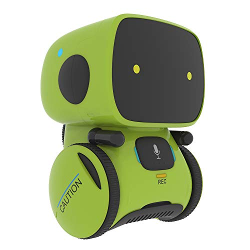YINGTESI Smart Robot Toys for Kids, Vector Robot Toy with Touch,Voice Control Sing and Dancing Repeat,Recorder,Speak Like You,Gift for Kids