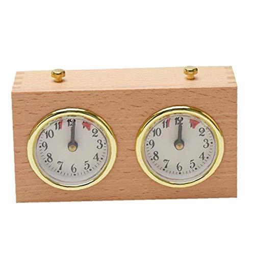 Sanfiyya Ajedrez Ajedrez Temporizador analógico Reloj de Juego de Madera Temporizador mecánico Conde Arriba Abajo de Competencia