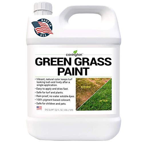 Covington Green Grass Paint for Lawn - Green Lawn Paint Grass Spray - Perfect Color Fix for Dog Urine Spots or Brown Patches - Green Grass Spray Paint for Lawn & Turf - Concentrate - (32 fl. oz.)