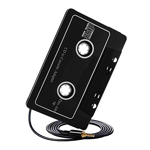 Philips Universal Cassette Tape Adapter - Car Stereo Music Player with Headphone Receiver Jack for Aux Cord, iPhone, iPod, CD Player, MP3 - Digital Audio Analog Converter for Tapedeck System
