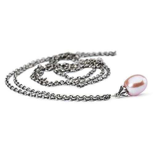 Trollbeads Silber Fantasy Kette mit rosa Perle, 80 cm