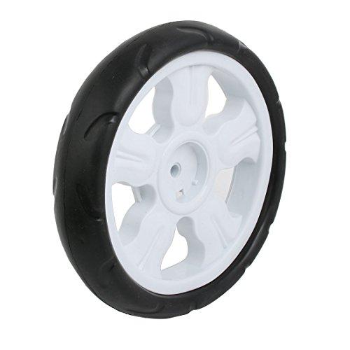 sourcingmap 190mm plastica del ametro ruota singola Puleggia rullo laminazione bianco 8x25mm