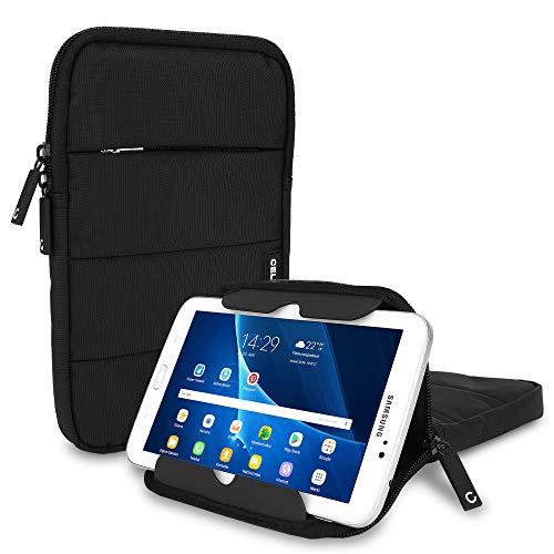 CELLONIC Funda para Tablets de 8 Pulgadas Universal Nylon Negro – Funda con Burbujas antigolpes, Resistente al Agua   Incluye Compartimiento para Accesorios