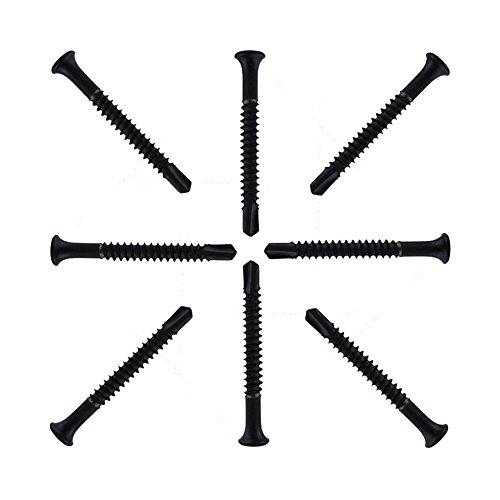 Loboo Idea Tornillos para Extractor de Cilindros/zócalo hexagonales de Cola de Milano autorroscante y autoperforante, 10 Piezas/Paquete (Tornillos para Extractor de Cilindros de 4,8 mm, Negro
