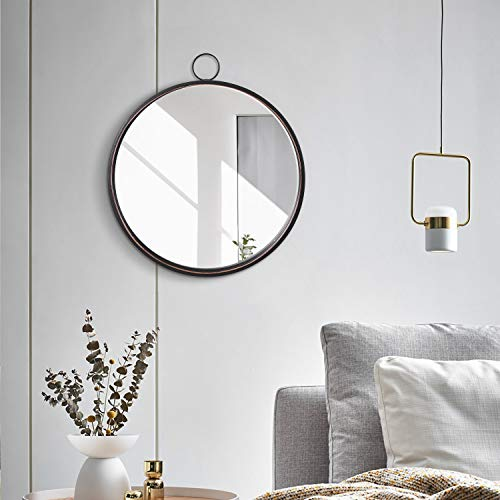 Black Round Mirrors For Wall Decor Brushed Metal Frame Wall Mirror For Bedroom Bathroom Living Room Entryway Buy Online In Angola At Angola Desertcart Com Productid 206913465