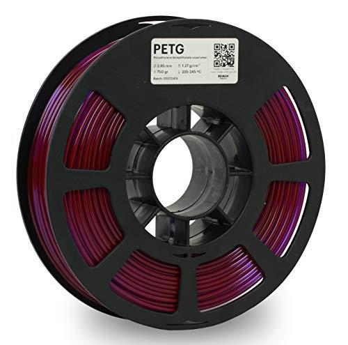 KODAK PETG Filament 2.85mm for 3D Printer, Translucent Purple PETG, Dimensional Accuracy +/- 0.02mm, 750g Spool (1.7lbs) PETG Filament 2.85 Used as 3D Filament Consumables to Refill Most FDM Printers