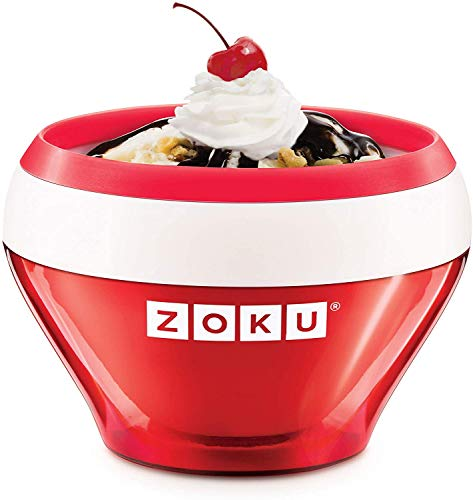 Zoku Ice Cream Maker Red - Ice Cream - Sorbet - Frozen Yoghurt in 10 Minutes