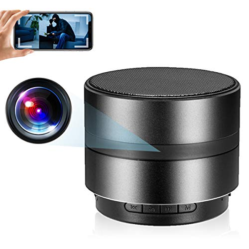 Spy WiFi Camera LMGL HD 1080P Hidden Camera Bluetooth Speaker Mini Camera with Motion Detection, Nanny Cam Recording Video for Home Security Surveillance