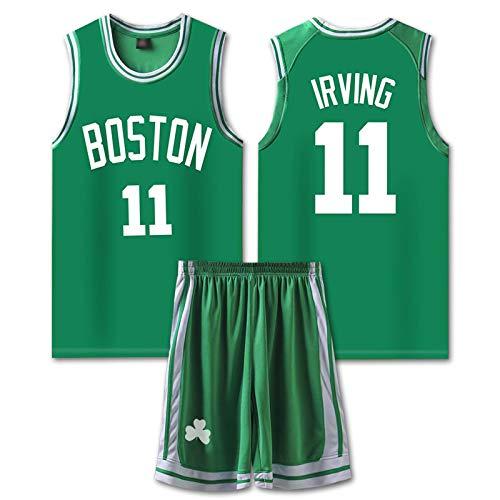 GAOXI Jersey Irving, Nets No. 11 Jersey, Hombres y Mujeres conmemorativas para Hombres y un Chaleco de Ocio y un Chaleco de Ocio + Conjunto de Pantalones Cortos Green-XXXL