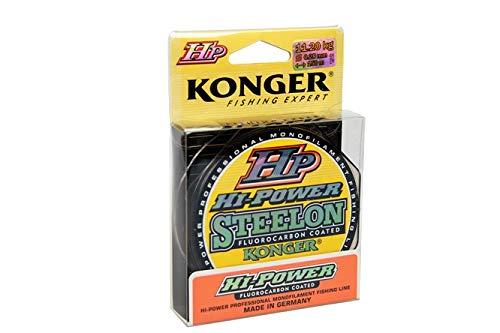 Konger - Hilo de pesca (revestimiento de fluorocarbono, 150 m, 0,14 -...