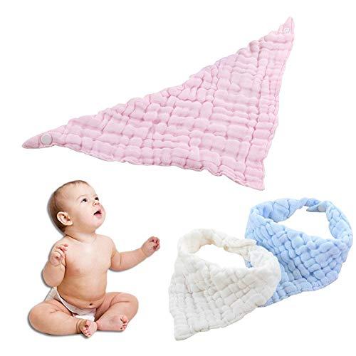 Babyproducten speeksel handdoek zes lagen vouwen gewassen katoen slabbetjes driehoek sjaal voor kinderen