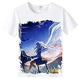FunStation Tee for Anime Angel Beats Cosplay T-Shirt Costume Short Sleeve Sweatshirt 01 XL