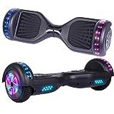 Hoverboard, Self Balancing Scooters 6,5 Pulgadas Segway Hover Scooter Board con música Bluetooth, Luces LED y Potente Motor para niños y Adolescentes (#Negro-Bluetooth)