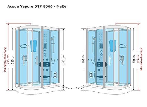 AcquaVapore DTP8060-7000R Dusche Duschtempel Komplett Duschkabine 80×120 - 8