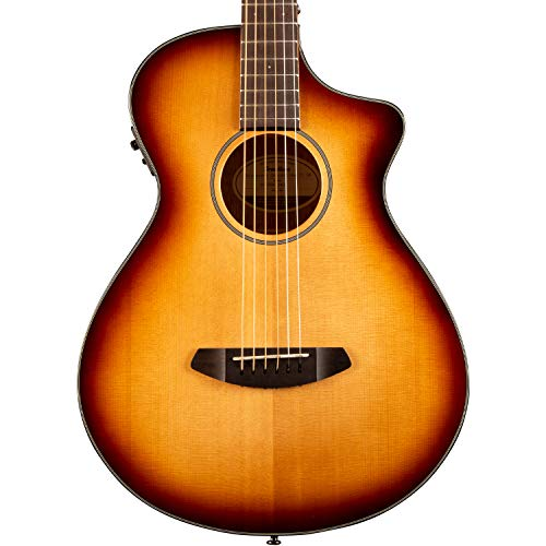 Breedlove 6 String Discovery Concertina Sunburst CE Sitka-Mahogany Acoustic-Electric Cutaway Guitar, Right...