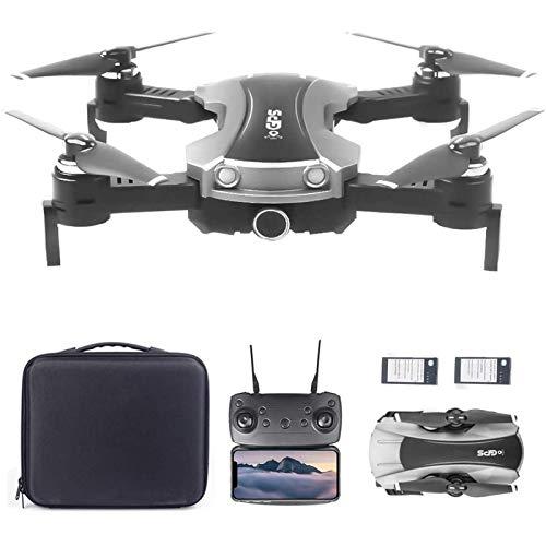 J-Love Drone GPS con Fotocamera 2K 5G WiFi FPV Drone RC Pieghevole, Follow Me Altitude Hold RC Quadcopter con 2 batterie e Borsa per Adulti e Bambini