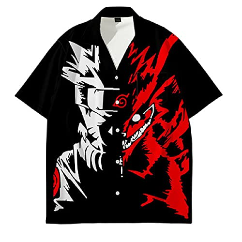 GIRLXV Camiseta de otoño Goku con puños roscados suéter con Capucha raglán Chaqueta Deportiva para Hombre Chaqueta Deportiva Goku Manga Corta XL