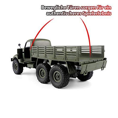 RC Auto kaufen Crawler Bild 3: HSP Himoto 2.4GHz RC Ferngesteuerter 6WD Off-Road Militär Army Truck Crawler Fahrzeug Transporter, Komplett-Set RTF*