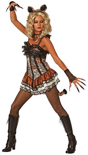 Karneval-Klamotten Panther Leopard Kostüm Damen sexy Leopard-Kleid Haarreif Ohren Tier Damenkostüm