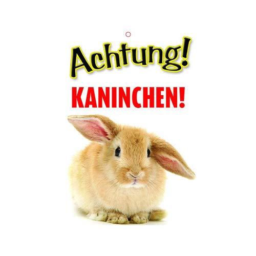 Plenty Gifts Warnzeichen - Achtung! Kaninchen