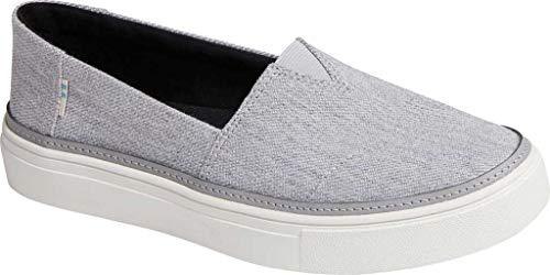 TOMS Women's Parker Twill Slip On Shoe Drizzle Grey Melange Twill 5.5 M