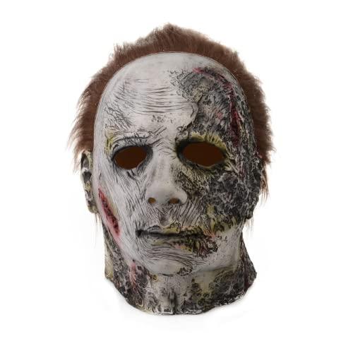 Halloween Michael Myers Mask 2021,Scar Mask Headgear, Latex Horror...