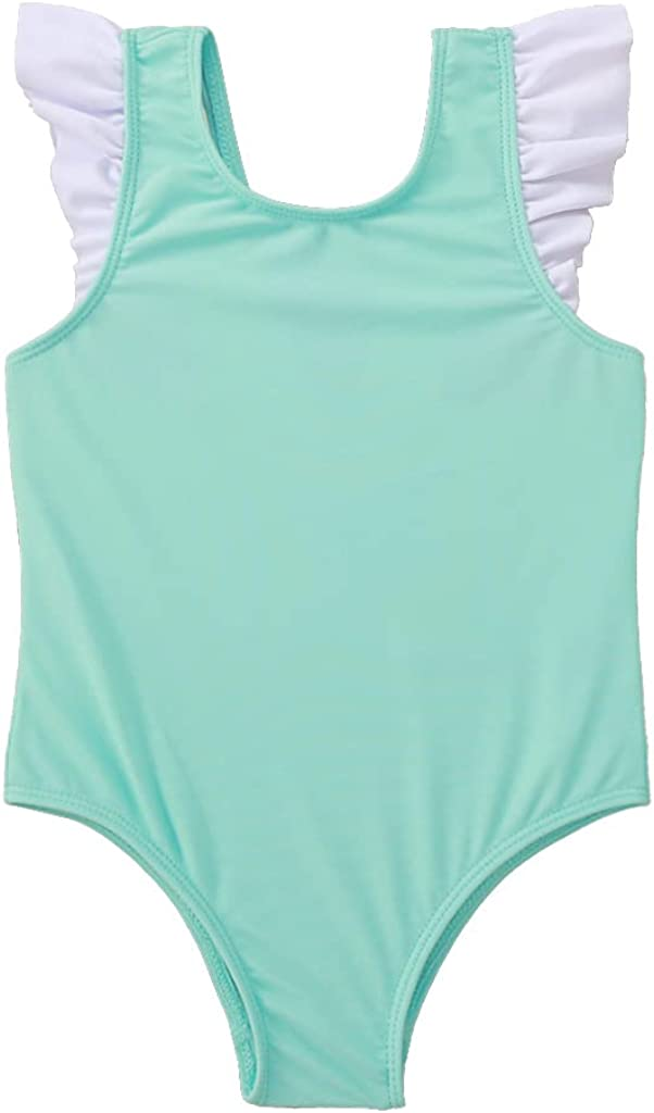 YOUNGER STAR Toddler Swimsuit Girl Bathing Suit Outfits One-Piece Beachwear Swimwear Beach Bikini Ruffle 3M-4Y: Clothing, Shoes & Jewelry