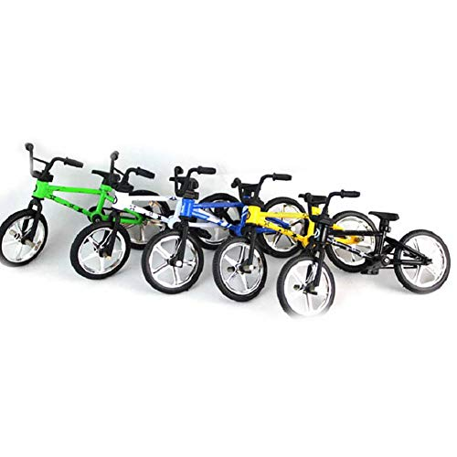 WFZ17 Regalo de aprendizaje para niños, lindo metal Mini BMX dedo bicicleta de montaña, juguetes de simulación para niños, modelo de bicicleta, color al azar