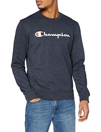 Champion Homme Classic Logo Sweatshirt Sweat shirt, Bleu Marine, M EU