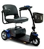 Pride Mobility - Go-Go Elite Traveller Plus - Lightweight Travel Scooter - 3-Wheel - Blue