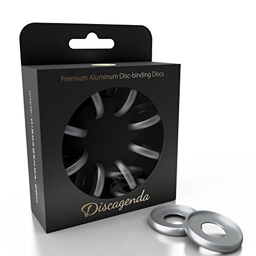 Discagenda Scheiben Bindende Ringe 33mm 1.3in Packung mit 8 Stück Silber