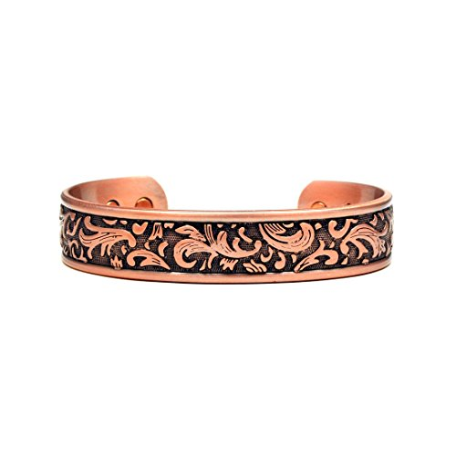 Accents Kingdom Copper Paisley Design Magnetic Therapy Bangle Golf Bracelet