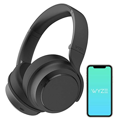 Wyze Noise-Cancelling Headphones, Wireless Over the Ear Bluetooth Headphones with Active Noise Cancellation, High-fidelity Sound, Transparency Mode, Clear Voice Pick-up, Alexa Built-in