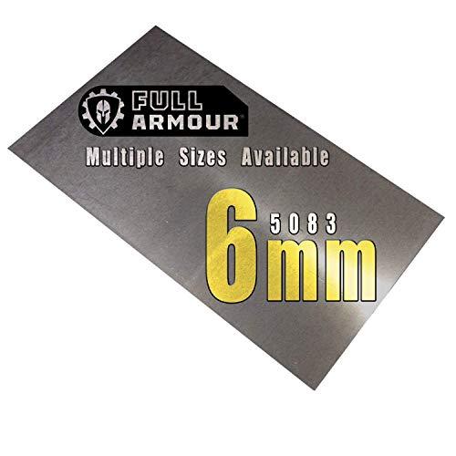 Placa de aluminio de 6 mm (5083)., 300mm x 150mm, 1
