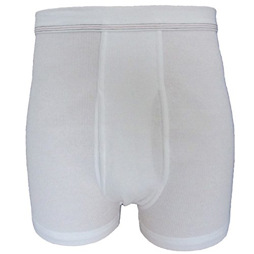 HERMKO 3942 4er Pack Herren Pagen aus Bio-Baumwolle (Doppelripp) - sehr hoher Leib, Farbe:weiß, Größe:D 7 = EU XL