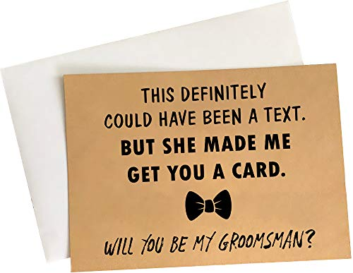 """Groomsmen Proposal Cards - Set of 8 with Envelopes 5"""" x 7"""" 